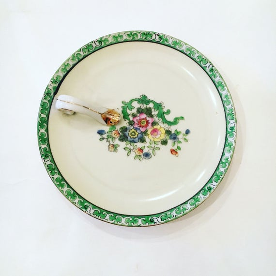 Rare Mid-Century Noritake Hand Painted Made in Japan Decorative Plate - Vintage Soap Dish - Floral China