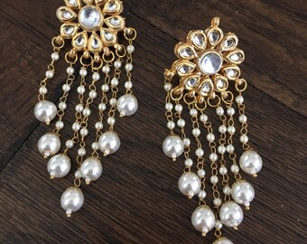 Kundan earrings , Indian earrings , Indian jewelry, kundan jewelry,Bollywood