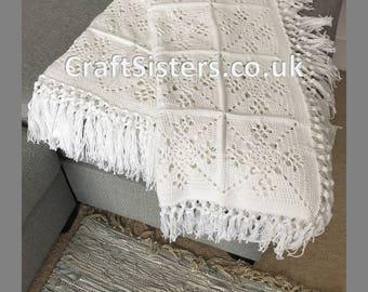 Beautiful Handmade Cotton Throw - Vintage Style
