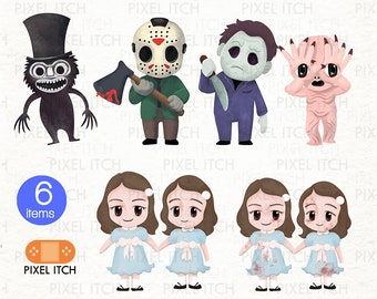 Horror Clipart - Halloween clipart - Scary Movies - Mike Myers, Jason Friday the 13th, The Shining, Pan's Labyrinth, Pale Man, Babadook