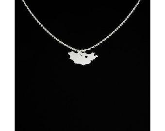 Mongolia Necklace - Mongolia Jewelry - Mongolia Gift