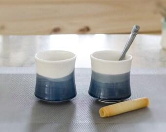 Dark blue coffee - ceramic espresso - ozeclore
