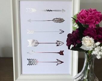 Arrows Foil Print