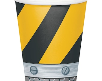 Construction Zone Paper Cups [8ct] Birthday Party Tableware Supplies