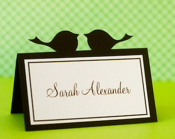 Love Bird Wedding Place Cards - set of 20