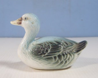 Vintage ceramic duck hand painted retired discontinued circa 1970s