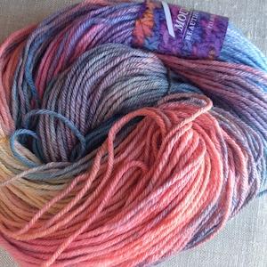 Mountain Colors Winter Silk, hand-dyed yarn, custom color way, Pale Sunrise,  silk, wool, natural fibers, worsted weight, aran weight, yarn