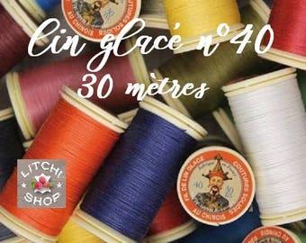 Spool of 30 meters of linen plied glossy number 40