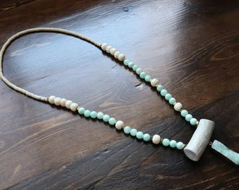 Teal Warrior Necklace