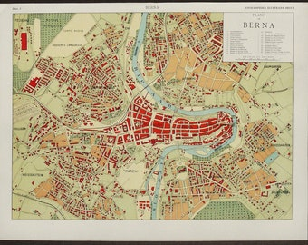 Bern map Etsy