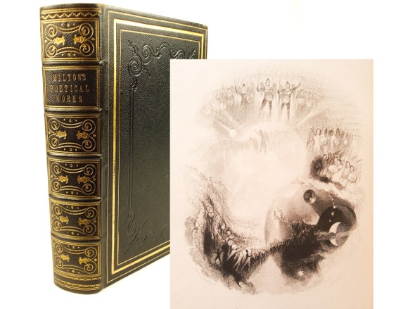 1842 Poetical Works of John Milton. Paradise Lost, Paradise Regained, among others. William Turner illustrations