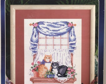 Cat Friends Counted Cross Stitch Kit UNOPENED