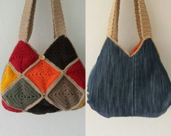 Knitted bag/knitted clutch/crocheted bag/knitted bag/handmade bag//Hand knitted bag/manual work