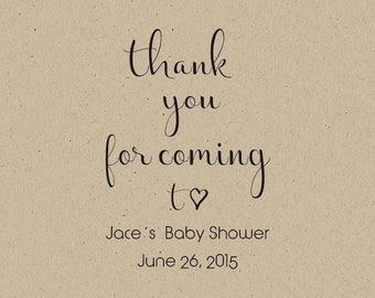 Custom Baby Shower Stamps   Baby Shower  Custom Thank You For Coming To Baby  Shower