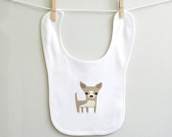Chihuahua baby bib, Chihuahua burp bib, baby boy bib, baby girl bib, Chihuahua gift