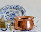 French copper chamberpot,...