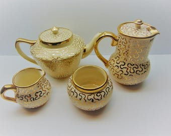 Vintage Sudlow's  Burslem Tea Set , Teapots,  Sugar and Cream Set