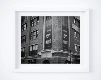 Chelsea Market NYC photo print -  Black and white New York art - City travel photography - Manhattan New York City - 8x12 - Square - 11x14