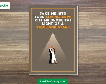 DOWNLOAD Printable Card - Ed Sheeran - Thinking Out Loud Card - I Love You Card - Happy Birthday - Happy Anniversary - Valentines Card