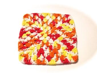 Melon Mania Crocheted Square Dish Cloth