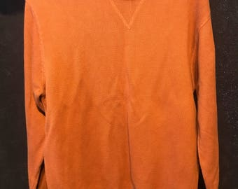 Eddie Bauer size medium orange sweater pullover we ship fast