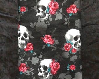 Indie Skull/Floral Book Sleeve
