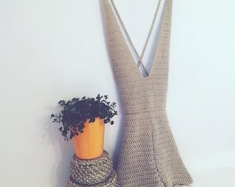 PDF File - Halterneck Playsuit Crochet Pattern