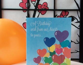 A Birthday Wish from Our Hearts Card