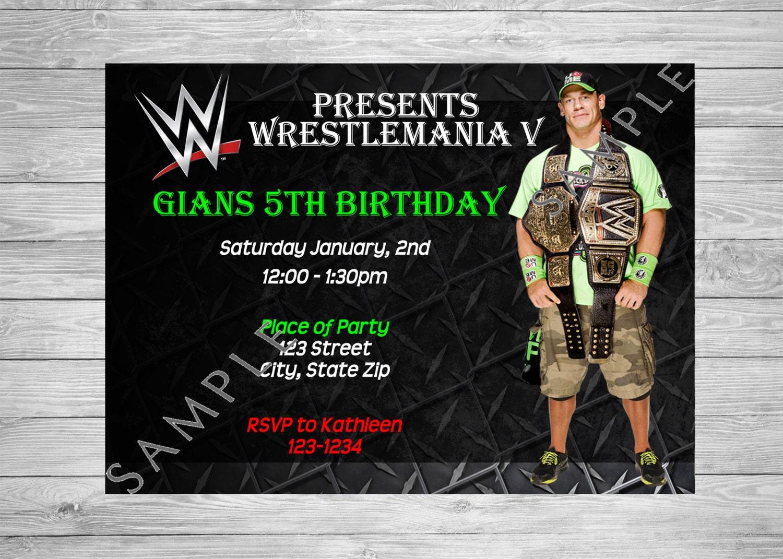 John Cena Birthday Card With All Wedding Stationery