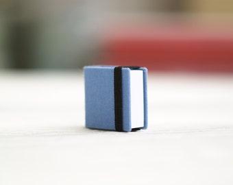 Hand-bound miniature sketchbook light blue
