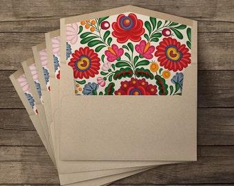 Huipil lined envelopes - 10 pieces