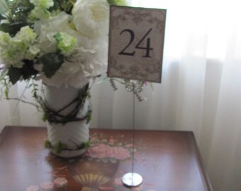 6 Butterfly Table Number Holders, Wedding Table Number Holders, Banquet Table Number Holders, Party Table Sign Holders