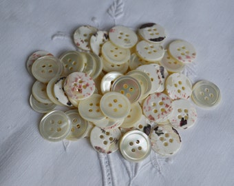 8 MOP buttons from the 1940s, 19mm, Last Ones