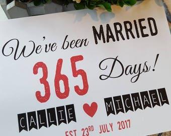 Personalised Wedding Anniversary Card