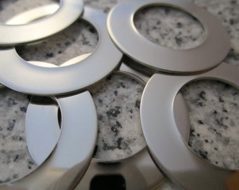 "1 1/4"" (32mm) Round Washer Stamping Blanks, 22g Stainless Steel - AWESOME Silver Alternative RW10"