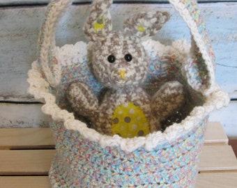 Easter Egg Basket Crochet Pattern