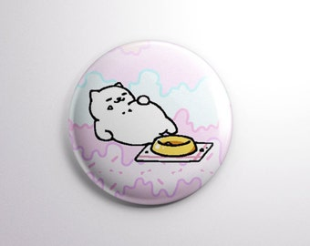 """NEKO ATSUME   TUBBS the Cat   1"""" Magnet or pinback button badge pin   Rare Cat   kitty collector Japanese unique cute adorable"""