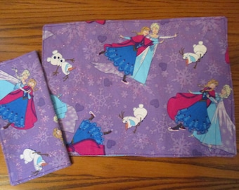 Child Size Placemats and Napkins, Purple Princess