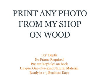 Wood Prints, Food Photography, Photography on Wood, Wood Art, Rustic Wood Decor, Travel Photography, Photography Gifts, Gift Ideas