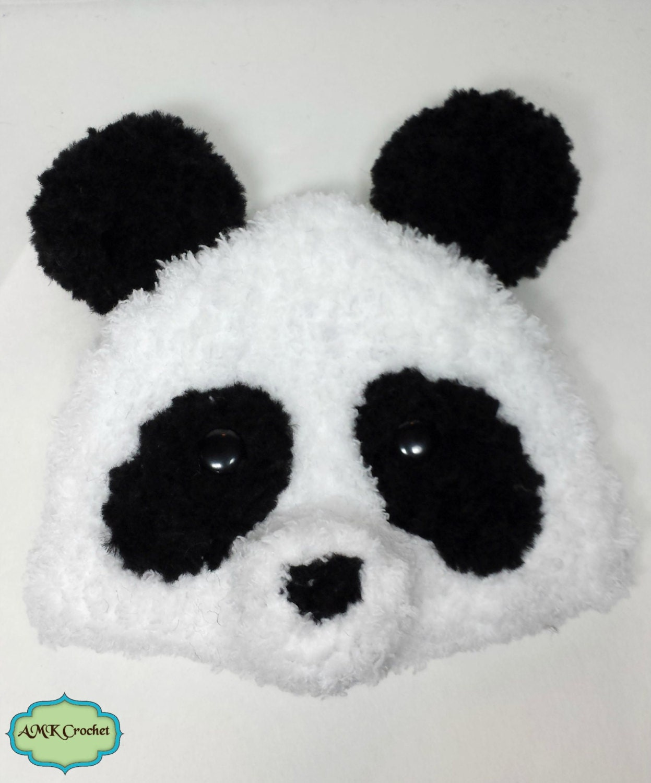 Instant Download Crochet Newborn Fuzzy Panda Hat and Diaper Cover ...