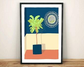 poster illustration mirror fig