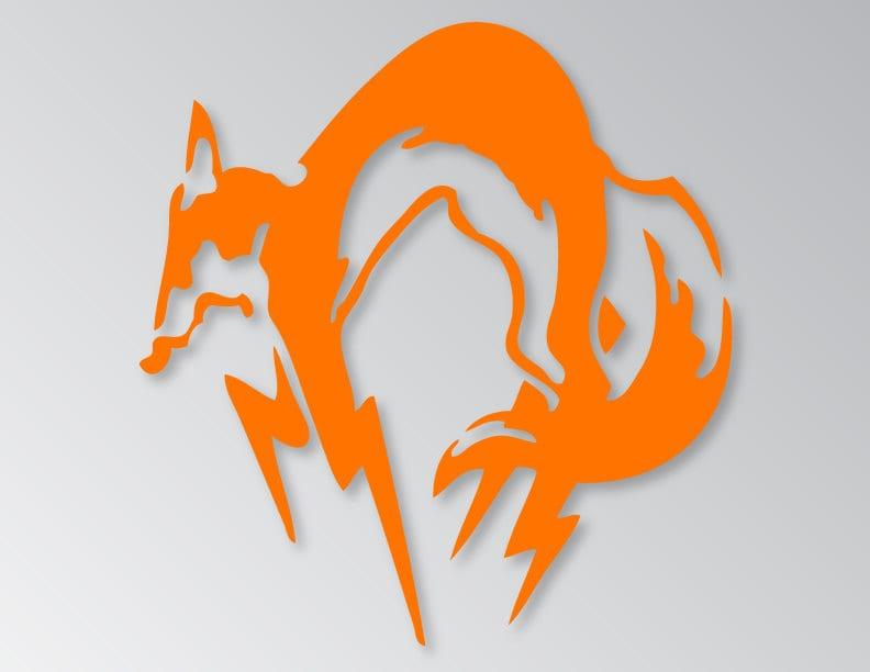 Metal Gear Solid Fox Hound Logo Vinyl Decal Sticker