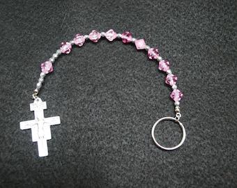 Irish Penal Rosary - One Decade Pocket Rosary, with San Damiano Cross
