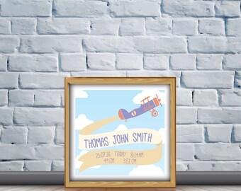 Aeroplane Birth Details Print