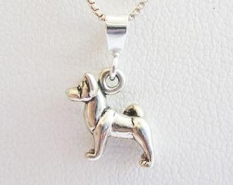 Akita Mini Pendant Charm and Necklace