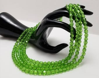 Electric Green Glass Necklace