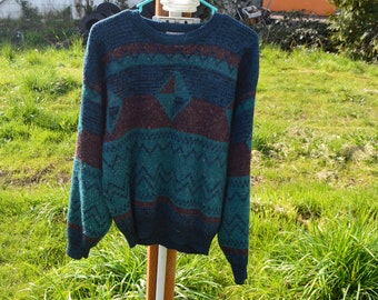 Vintage women's geometric sweater