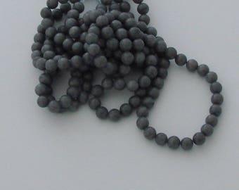 10 pearls 8mm gray jade