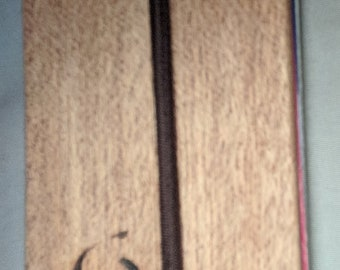 Mahogany minimalist wallet / business card holder