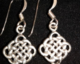 Sterling Silver Celtic Knot Work Earrings